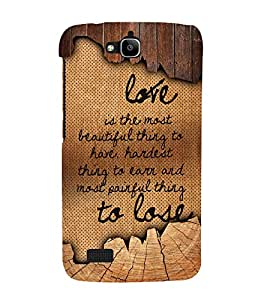 Love Is The Most Beautiful Cute Fashion 3D Hard Polycarbonate Designer Back Case Cover for Huawei Honor Holly