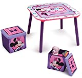 Disney Minnie Mouse Table and Ottoman Set with Storage