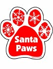 Imagine This 5-1/2-Inch by 5-1/2-Inch Santa Paws Car Magnet, Red