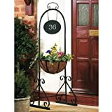 Planter With House Number Plaque