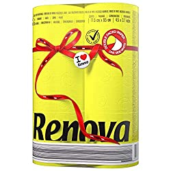 Renova Toilet Paper Red Label, 115mm x95mm, 6 Rolls, Yellow