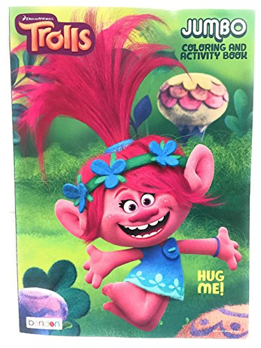 trolls jumbo coloring and activity book