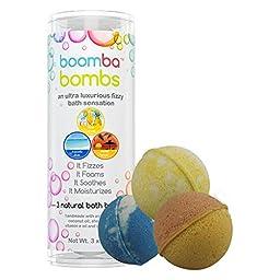Island Escape Collection Luxurious Bath Bomb Gift Set Of 3 Island Escape Collection Boomba Bath Bombs - 3 Bath Bomb Fizzies Per Bath Bomb Kit