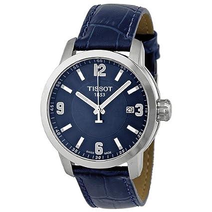 Tissot PRC 200 Quartz Blue Dial Blue Leather Sport Mens Watch T0554101604700 天梭 男士 石英手表-奢品汇 | 海淘手表 | 腕表资讯