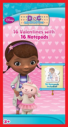 Paper Magic 16CT Notepads Doc McStuffins Kids Classroom Valentine Exchange Cards - 1
