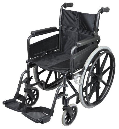 Aidapt VA167 - Sedia a rotelle con anelli corrimano, in acciaio