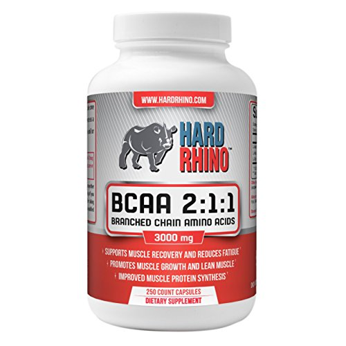 Hard Rhino Branched Chain Amino Acids  2:1:1 600mg Capsules