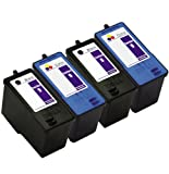 51JiZT O%2BzL. SL160  4 Pack (2BK,2C) Remanufactured DELL (Series 9) MK992 Black and MK993 Color Ink Cartridges for DELL 926, V305, V305W Printers