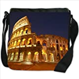 Roman Colosseum in Rome Italy Small Denim Shoulder Bag / Handbag
