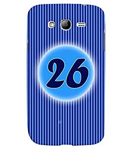 Fuson 3D Printed Numerology Designer back case cover for Samsung Galaxy Grand Neo Plus - D4246
