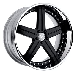 Mandrus Stuttgart 19 Black Wheel / Rim 5×112 with a 35mm Offset and a 66.56 Hub Bore. Partnumber 1995MAS355112B66