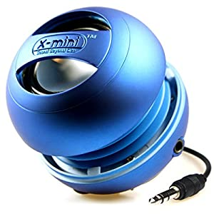 XMI X-Mini II 2nd Generation Capsule Speaker with 3.5mm Jack Compatible with iPhone/iPad/iPod/Smartphones/Tablets/MP3 Player/Laptop - Blue