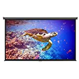 VonHaus 100-inch Widescreen Projector Screen (Manual Pull Down) - Home Theater/Cinema or Presentation Platform - 16:9 Aspect Ratio Projection Screen - Suitable for HDTV/Sports/Movies/Presentations