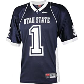 Nike Navy Replica #1 Utah State Aggies Football Jersey