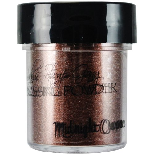 Lindy's Stamp Gang 2-Tone Embossing Powder .5oz-Midnight Copper Obsidian Lsg-Ep-2 LSG-EP-2