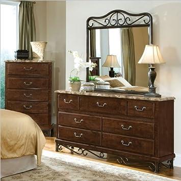 Standard Furniture Santa Cruz 7 Drawer Dresser and Mirror Set