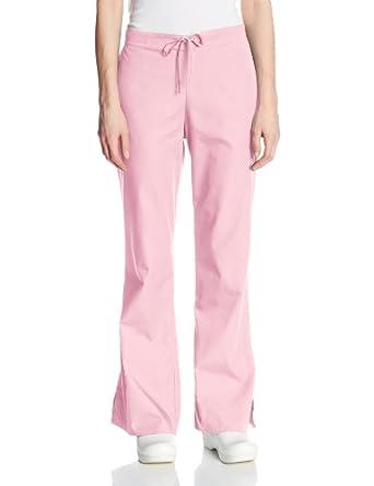 Cherokee Women's Petite Workwear Scrubs Drawstring Pant, Pink Blush, X-Small-Petite