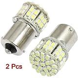 TOOGOO(R) 2 Stk. BA15S 1156 1141 LED-Lampen 50-1210 SMD 12V weisse Auto Bremslichter Blinker