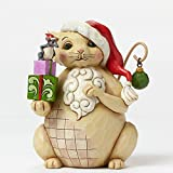 Jim Shore for Enesco Heartwood Creek Lazy and Lovable Christmas Cat Figurine, 5""