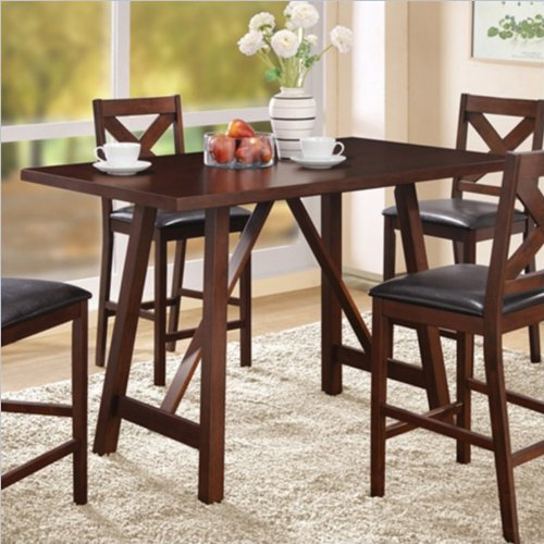 height dining table 32 inch by 55 inch mocha