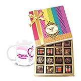 Valentine Chocholik Belgium Chocolates - Bestest Collection Of Truffles And Chocolates With Love Mug