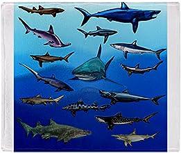 CafePress Shark Gathering Throw Blanket - Standard Multi-color