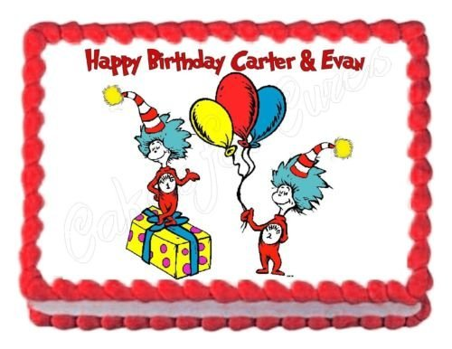 Dr. Seuss party cake topper
