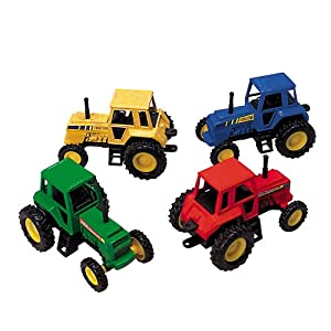 Tractor- Die Cast Metal - Pull Back and Go