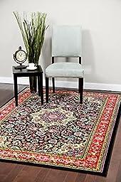 10015 Black 5\'2x7\'2 Area Rug Carpet Large New