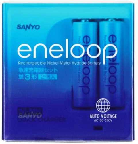 eneloop 単3形2個付急速充電器セット N-...