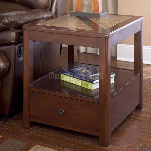 Cheap Maddox Square Brown End Table (T543-3)