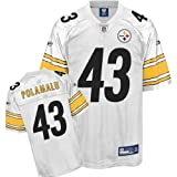 Reebok Pittsburgh Steelers Troy Polamalu Replica White Jersey Extra Large
