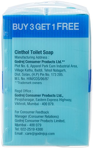 Cinthol Cool Soap, 125g x 3 + 125g Free at Rs.86 – Amazon