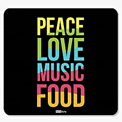 InstaNote Peace Love Music Food Motivational Mousepad
