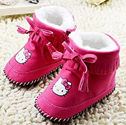 NEW!!! Fashion Baby Winter Super Warm Shoes Toddler Infant Hello Kitty Soft Bottom Anti-slip Snow Boots (2 US Size, Pink)