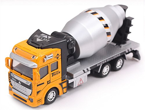 Vidatoy 1:48 Diecast Pullback Car Cement Mixer Truck Construction Toy Vehicle For Kids (Toy Cement Mixer Truck compare prices)