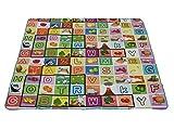 Nasis Kinder Baby Picknickdecke Zeltbodenmatten feuchtigkeitsbest�ndig Decke f�r Reise Urlaub 180x180cm AL7063 (Obst Buchstabe)