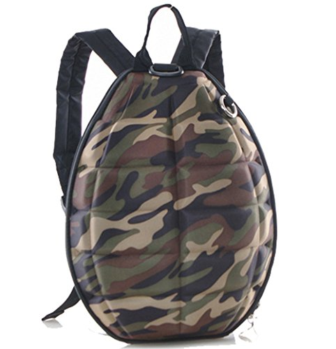 V-youth PU Leather Turtle Shell Kids Backpack(Camouflage)