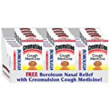 3 Pack Creomulsion Adult Cough Syrup w/FREE BOROLEUM [Health and Beauty]