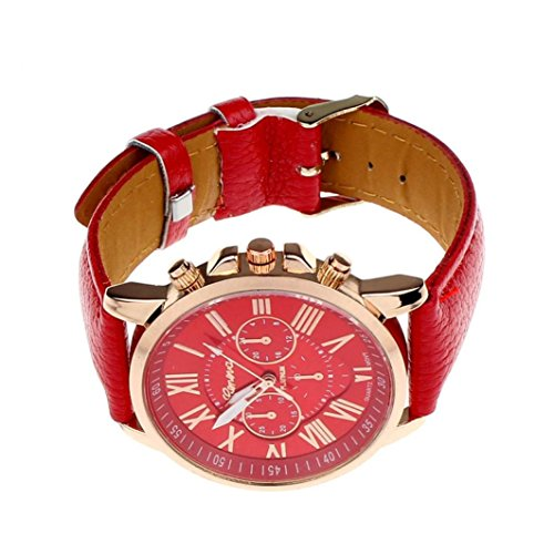 familizo-womens-roman-numerals-faux-leather-analog-quartz-watch-red
