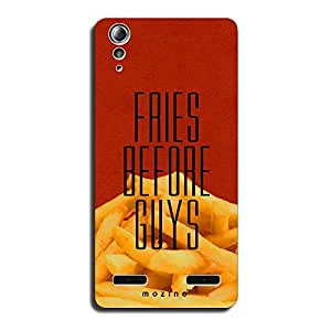 Mozine Fries Before Guys Printed Mobile Back Cover For Lenovo A6000 Plus