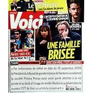 VOICI [No 1093] du 18/10/2008 - UNE FAMILLE BRISEE - LA MORT DE GUILLAUME DEPARDIEU LAURA SMET AVEC UN EX DE LA...