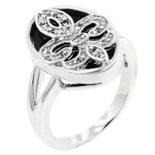 ISADY Paris Ladies Ring cz diamond ring Fleur De Lis