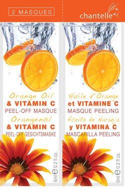 Chantelle Orange Oil & Vitamin C Peel Off Face Masques 2 x 6ml