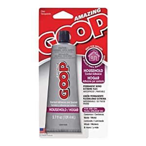 Goop household adhesive white 3 7 oz for Household cement