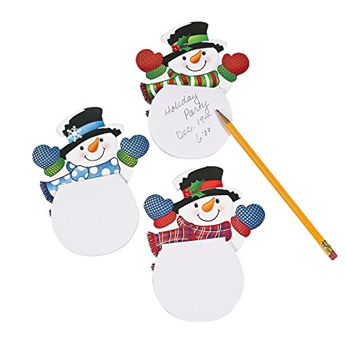 1 X Paper Waving Snowman Notepads (2 Dozen) - Bulk