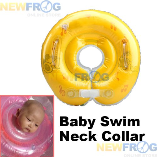 YOUR BABY CAN SWIM! Inflatable Learner Swim Float/Swimming Float Neck Collar - Offers best protection for your Child/Baby while they REALLY learn to swim! Color & Design May Vary.