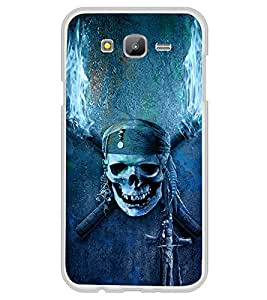 iFasho Scary Faces Pirate Back Case Cover for Samsung J5
