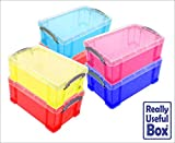 Asstd Lot of 9L Litre Really Useful Plastic Boxes* 6 Boxes only £43.50 * -that's just £7.25 a box- Free UK Mainland delivery