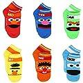 Sesame Street Little Boys 6 pack Socks